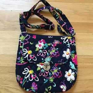 Vera Bradley floral shoulder bag purse tote